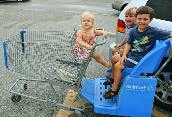 What makes a mom's day - big buggy that fits lots of kids