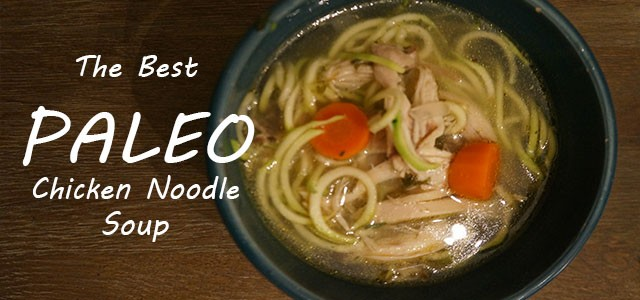 Header for chicken soup with zucchini
