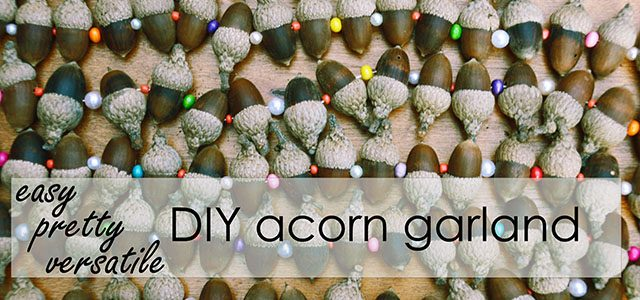 strands of acorn garland