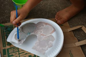 Painting paper plates