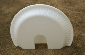 Making a paper plate tomb